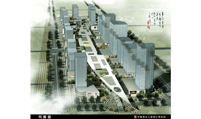 【市政工程】经典项目:西安高新区CBD步行商业街规划