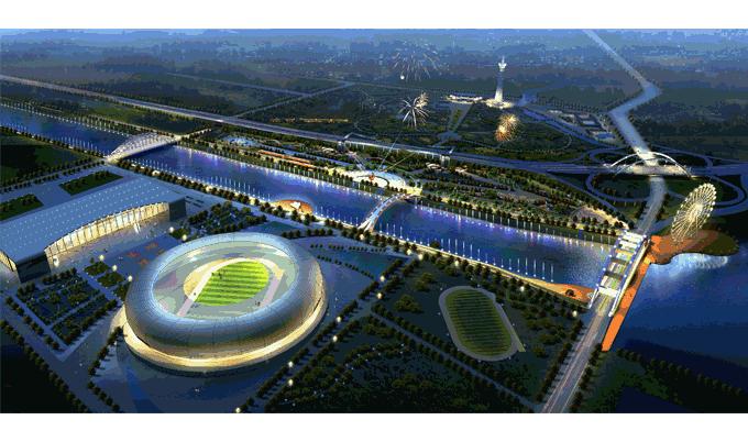 【市政工程】经典项目:三门峡城市文体中心广场总体规划