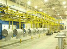 西电集团积放式悬挂输送涂装生产线