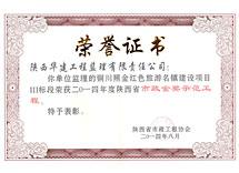 2014照金市政金奖示范工程