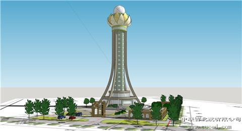 华建所顺利迁建庆阳气象站雷达塔绘制半圆visio中标项目图片
