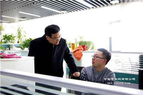 省政协副主席、省住建厅厅长杨冠军来我公司走访慰问