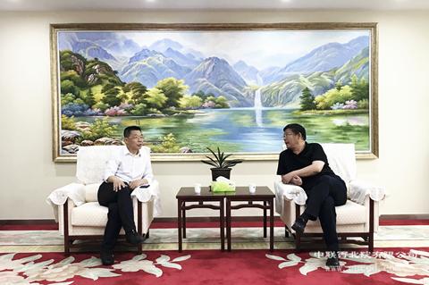 富阎产业合作园区党工委副书记、管委会主任胡广鑫莅临调研