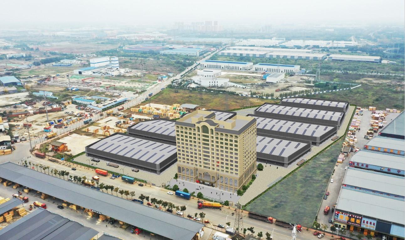 成都青白江铁路港木材物流仓储基地项目