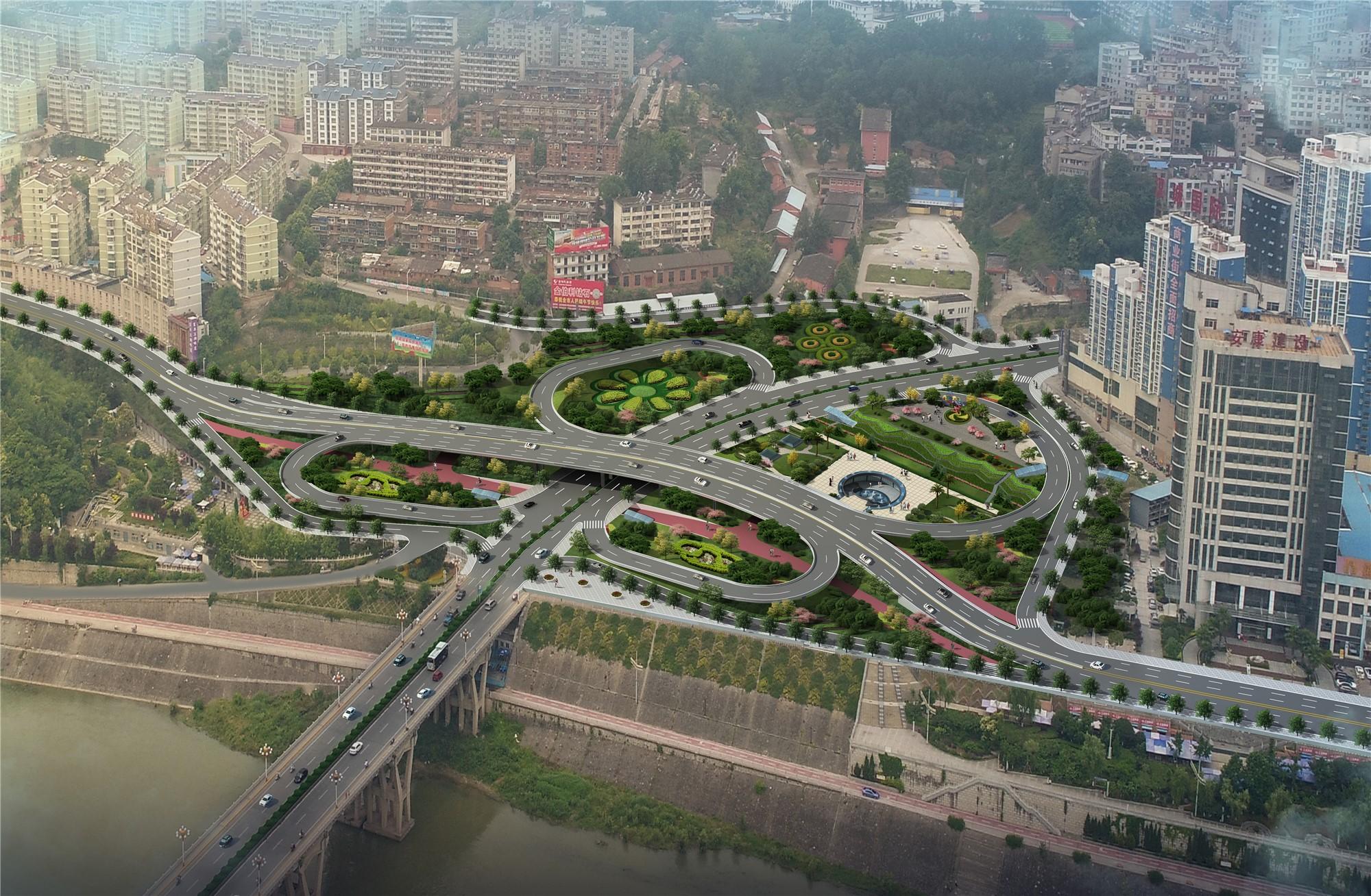安康市江北桥头交通组织改造立交工程